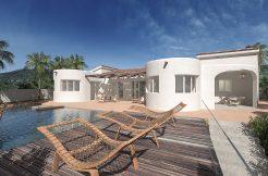 Ibiza stijl bungalow zeezicht benissa costa blanca