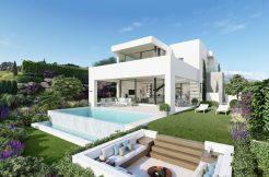eerstelijn moderne zeezicht villa estepona spanje