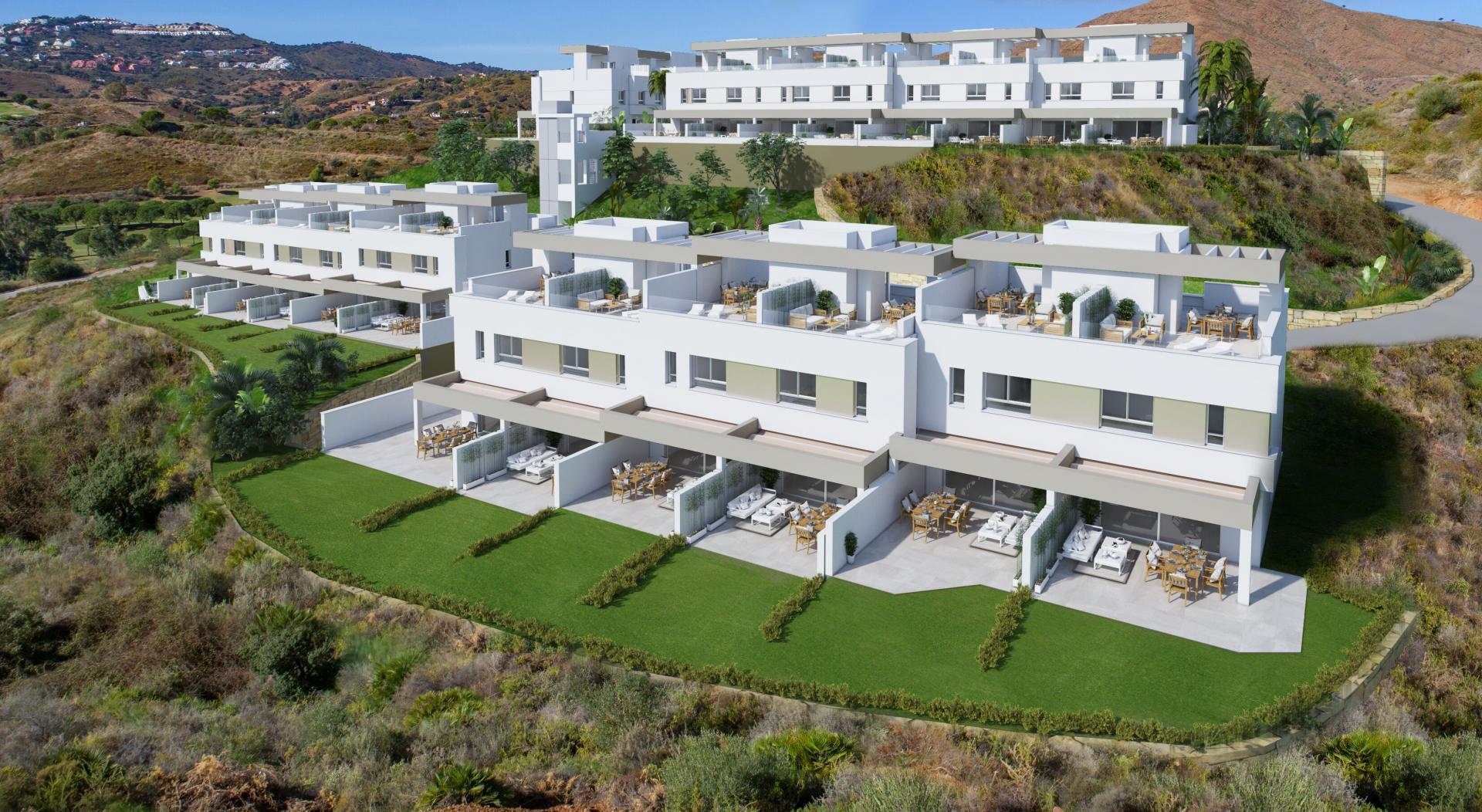 Moderne geschakelde woningen la cala golf mijas costa del sol