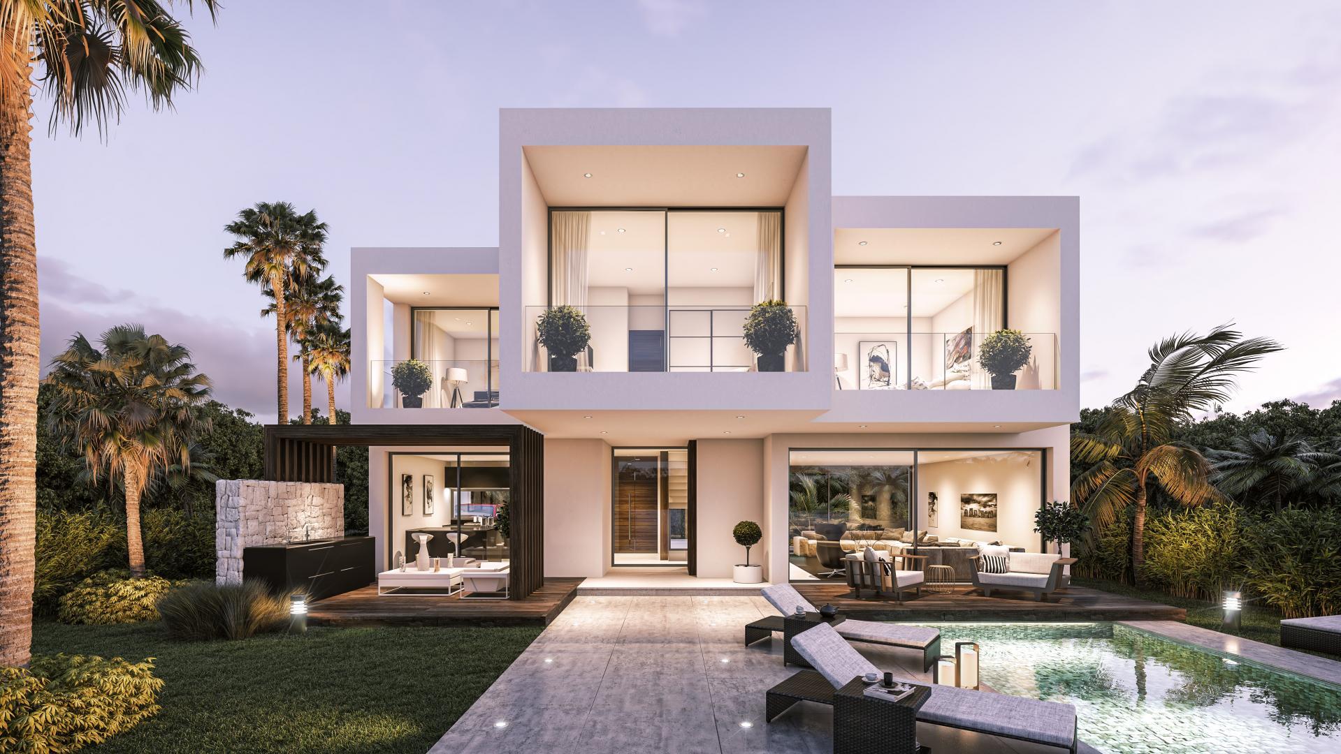 Moderne vrijstaande villa's op de New Golden Mile, Marbella