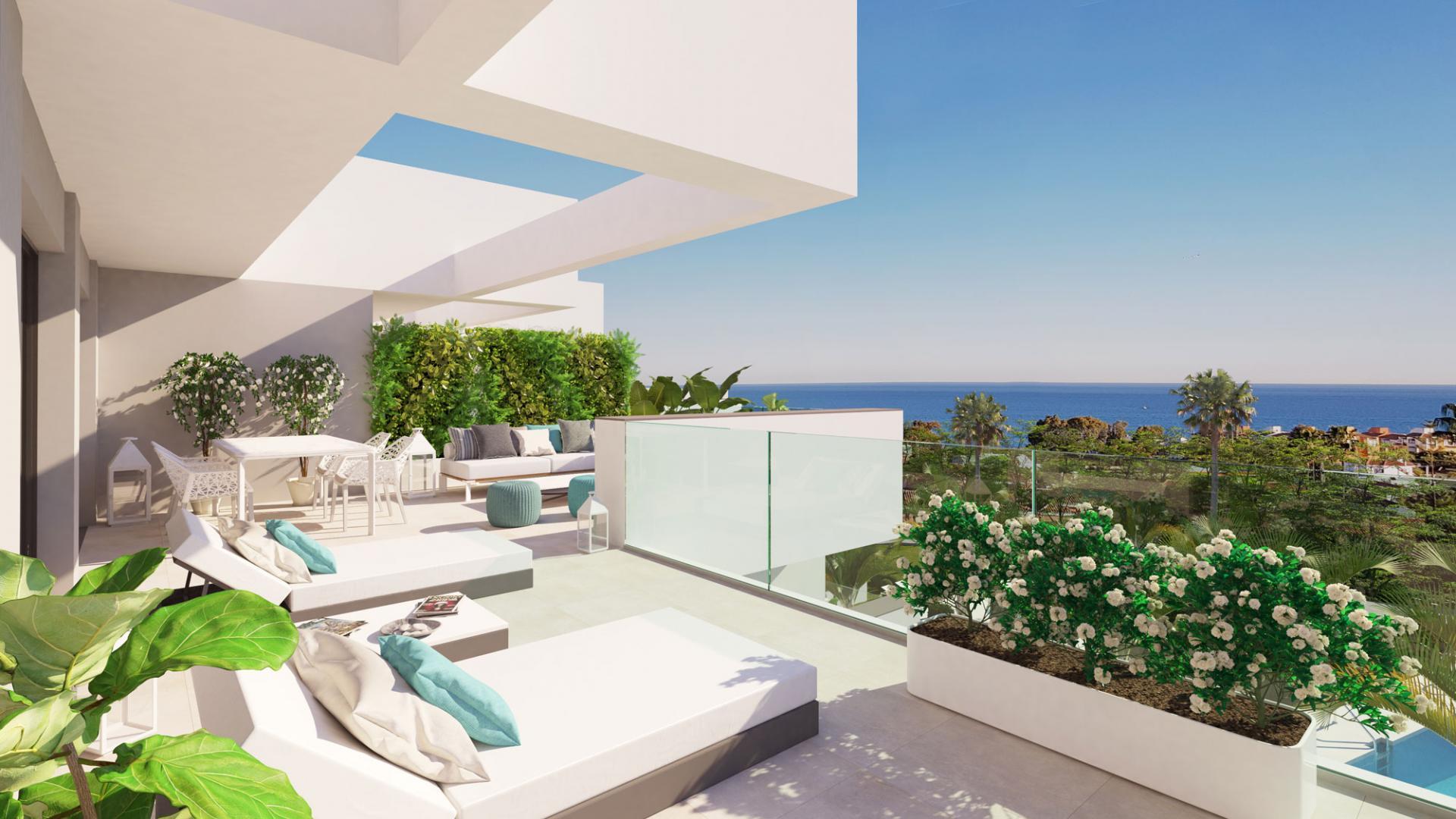 moderne zeezicht appartementen costa del sol