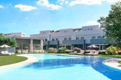 Eerste lijn golf moderne luxueuse schakel woningen Costa del Sol