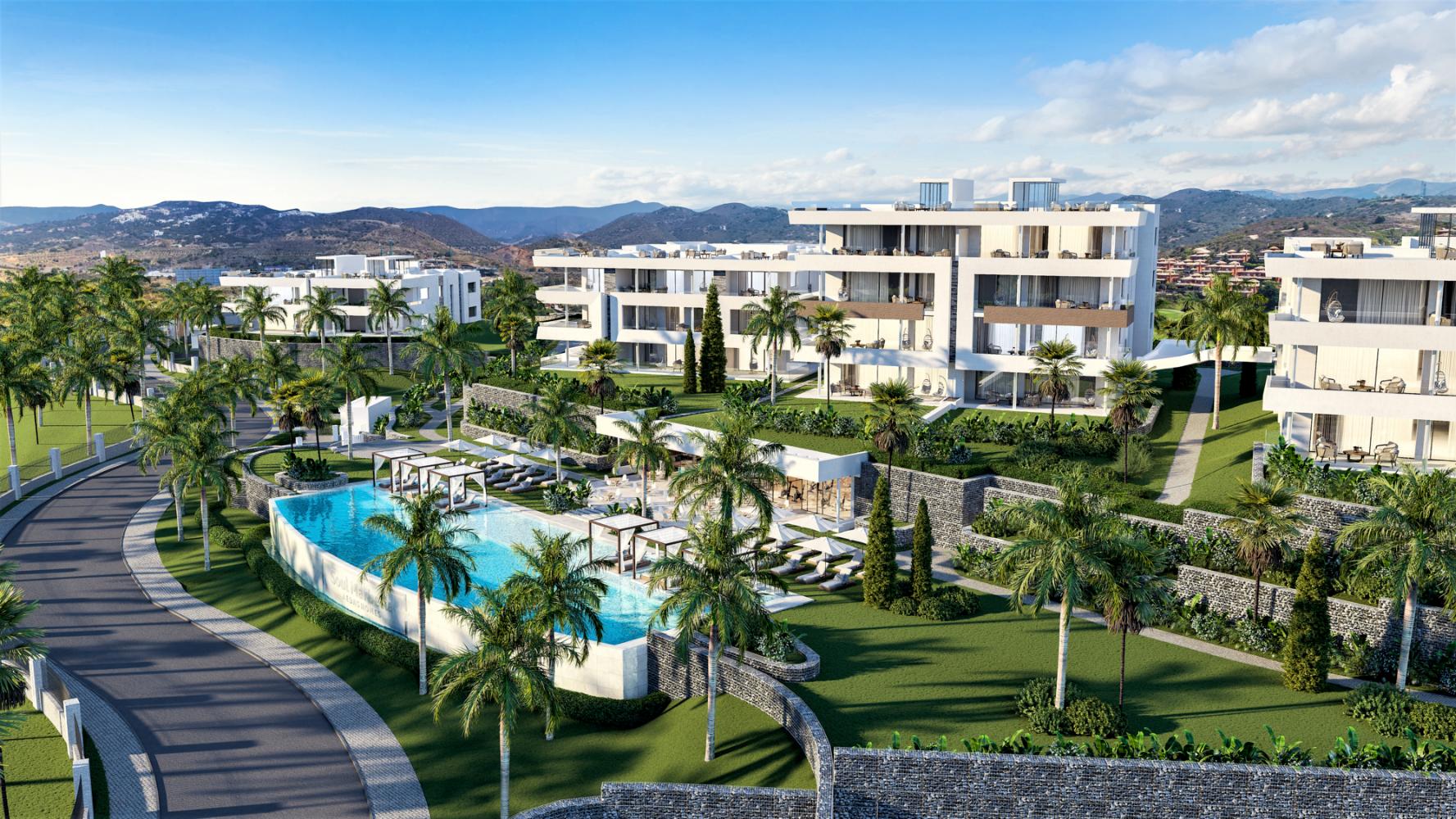 Luxe moderne zeezicht appartementen, Oost Marbella