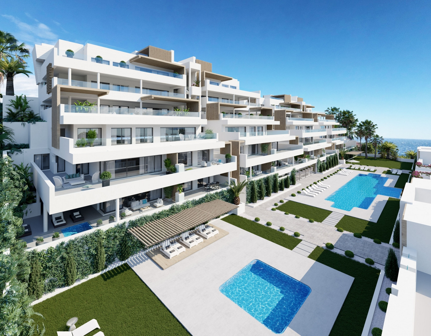 Moderne appartementen loopastand strand haven Estepona