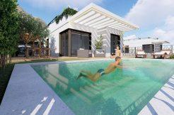 moderne zeezicht bungalow Polop Spanje