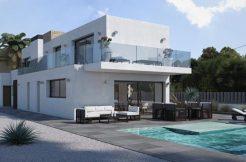 luxe moderne villa strand centrum Moraira
