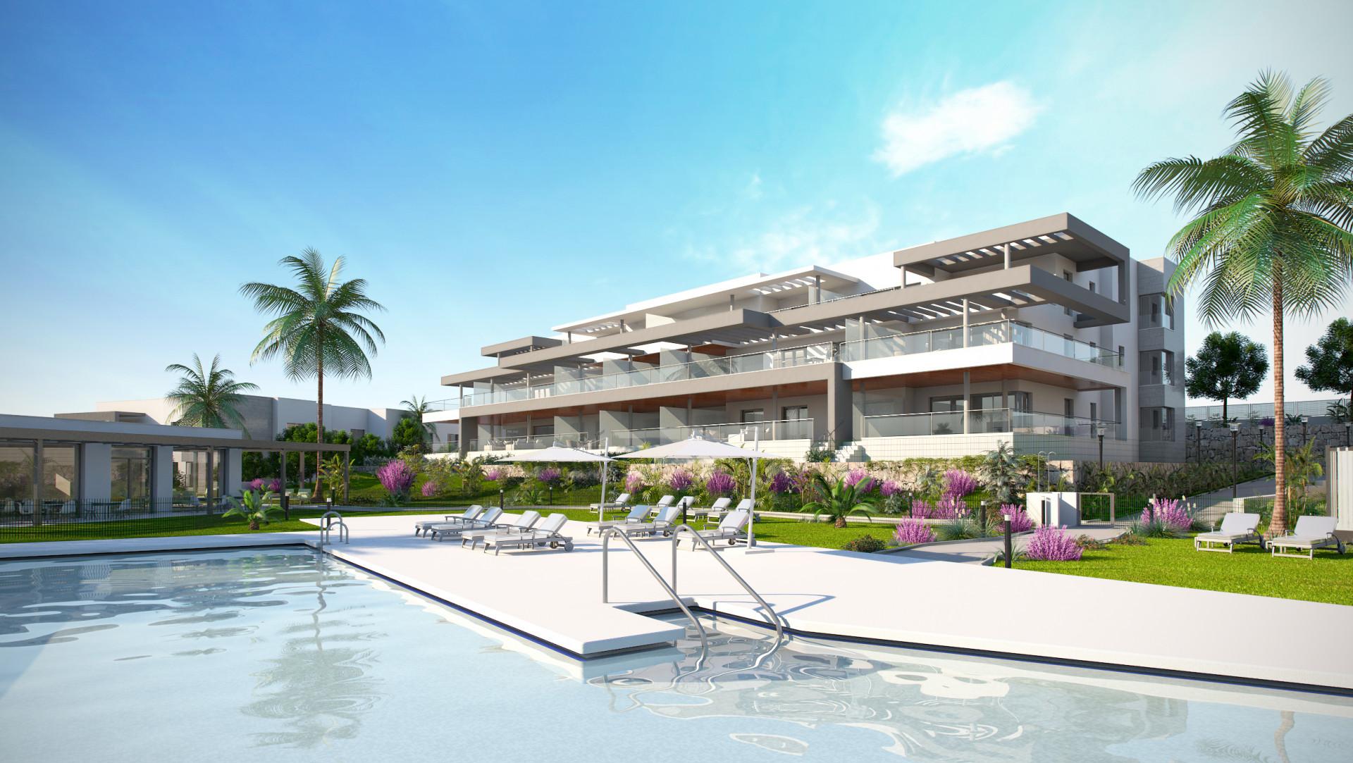 moderne zeezicht appartementen golfbaan, estepona