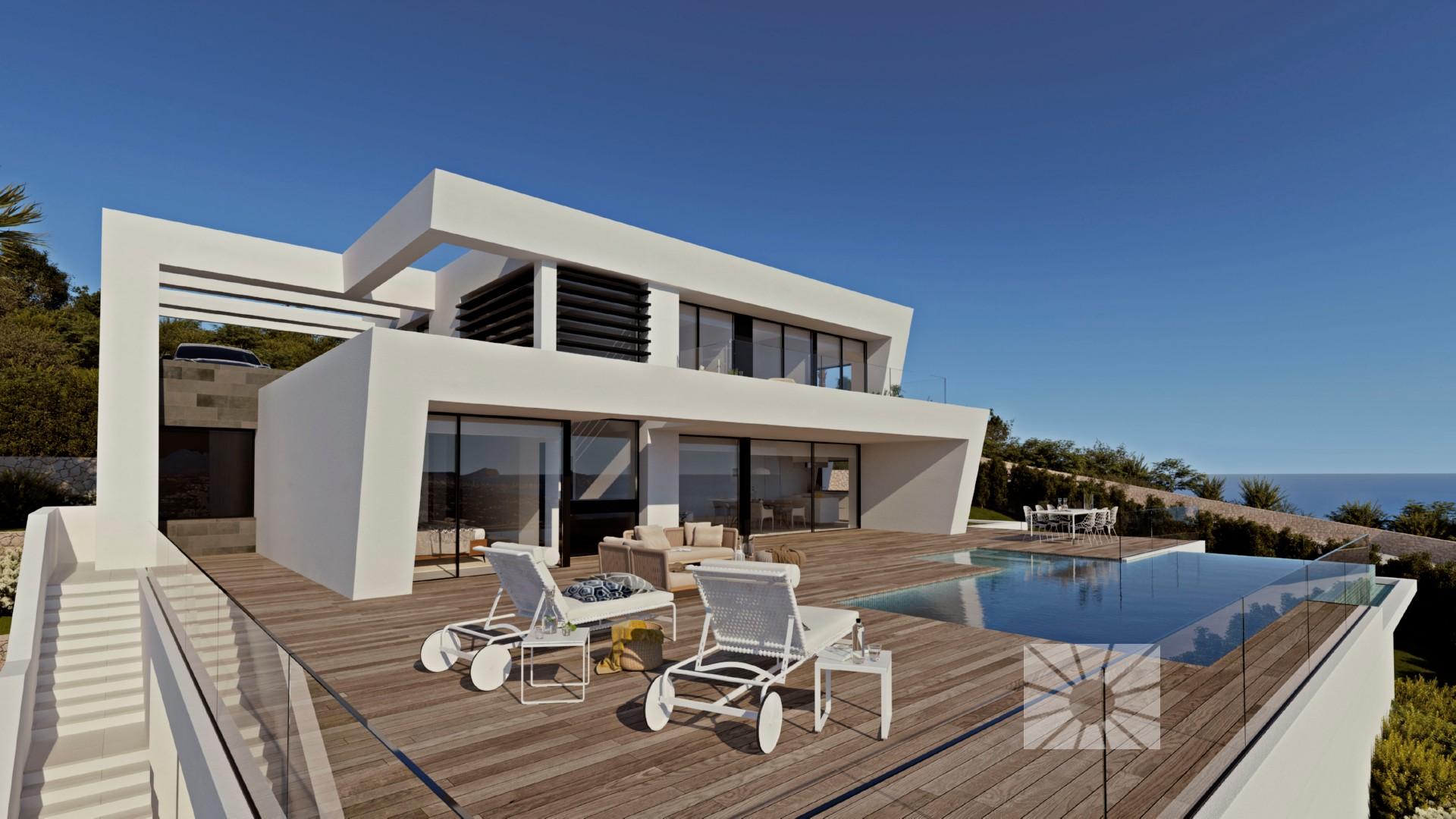 luxe moderne zeezicht villa moraira
