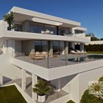 moderne zeezicht villa moraira spanje