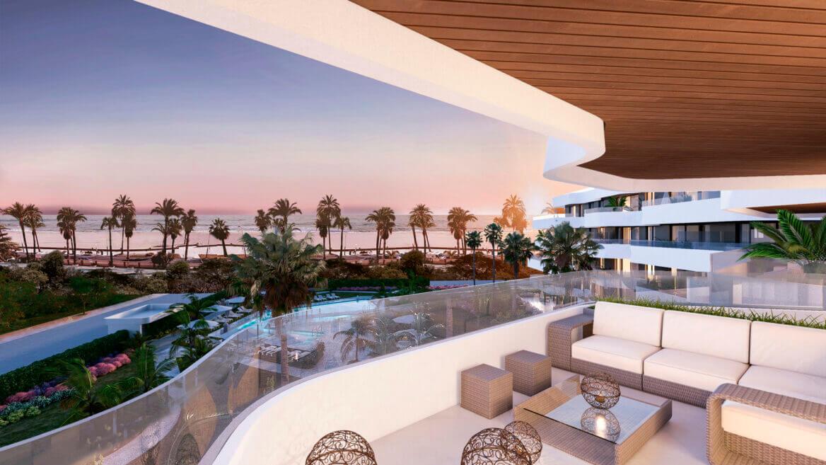 Moderne appartementen eerste lijn strand in Torremolinos