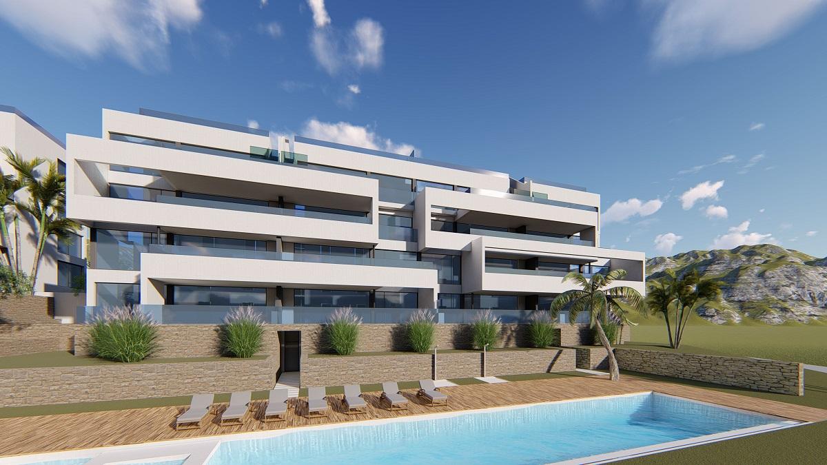 Moderne luxe appartementen op luxe golfdomein