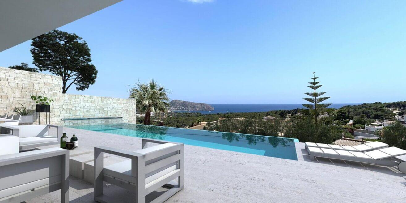 Luxe moderne zeezicht villa in Benissa