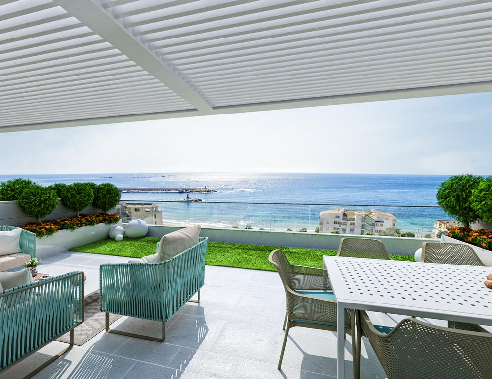 Modern penthouse aan het strand in Villajoyosa