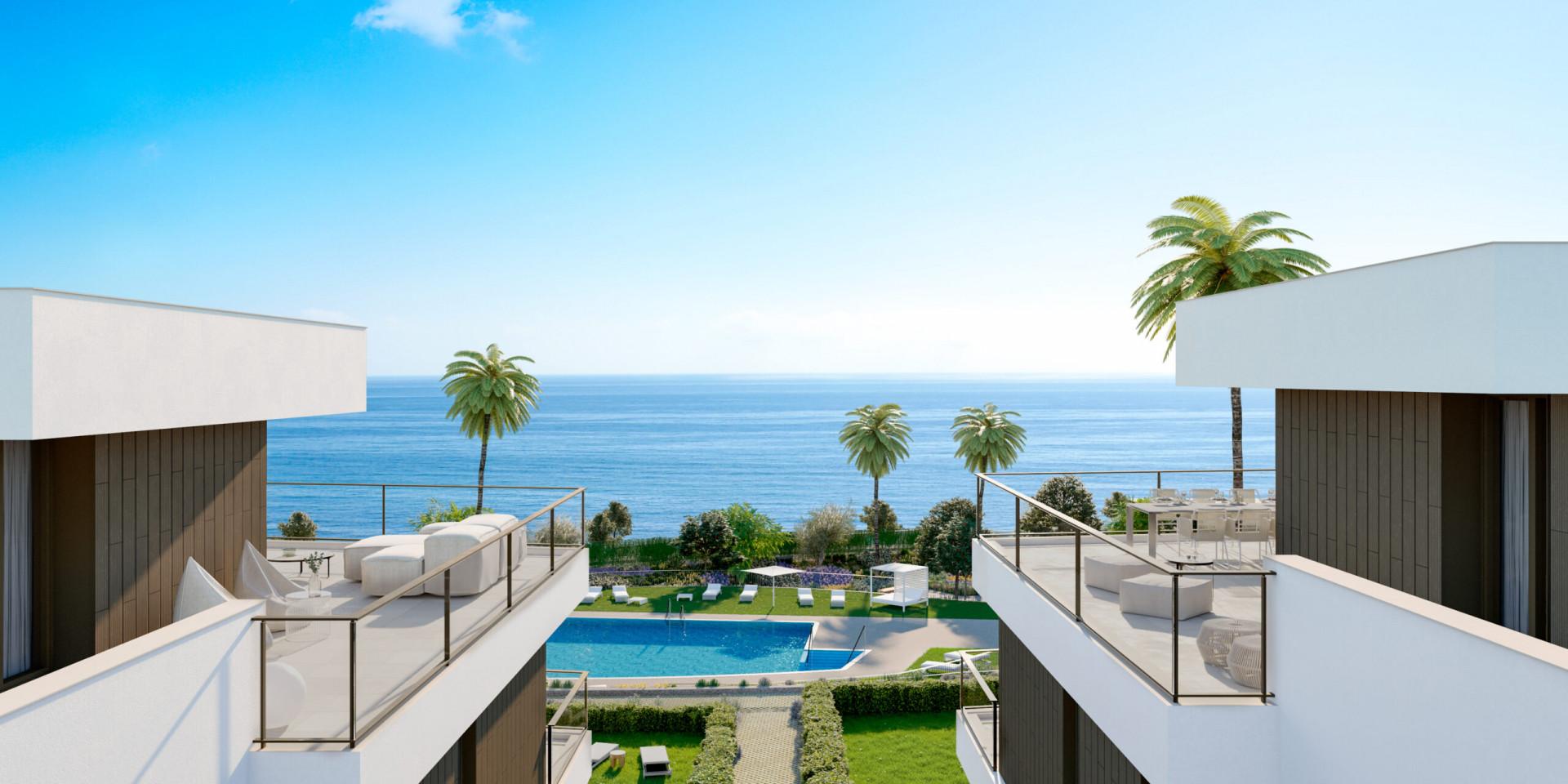Moderne appartementen aan strand Casares-Estepona